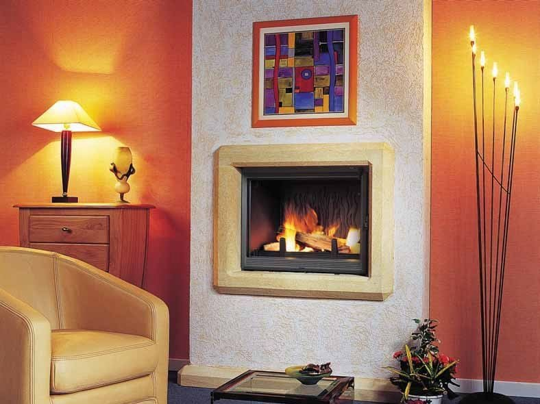 Wood-burning built-in wall-mounted fireplace DIAMANTINE | Built-in fireplace by CHEMINEES SEGUIN