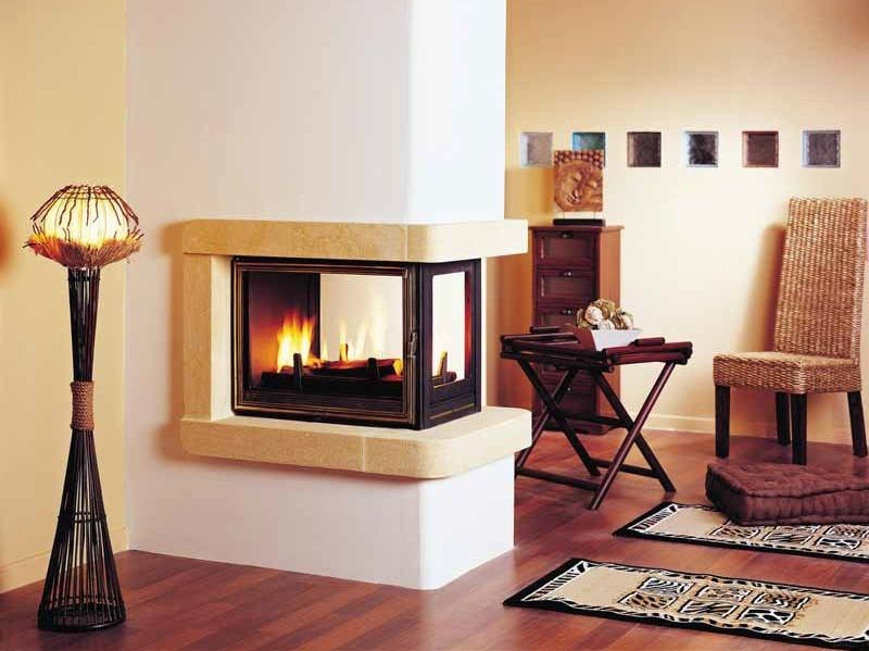 Wood-burning 3-sided fireplace SAPHO by CHEMINEES SEGUIN
