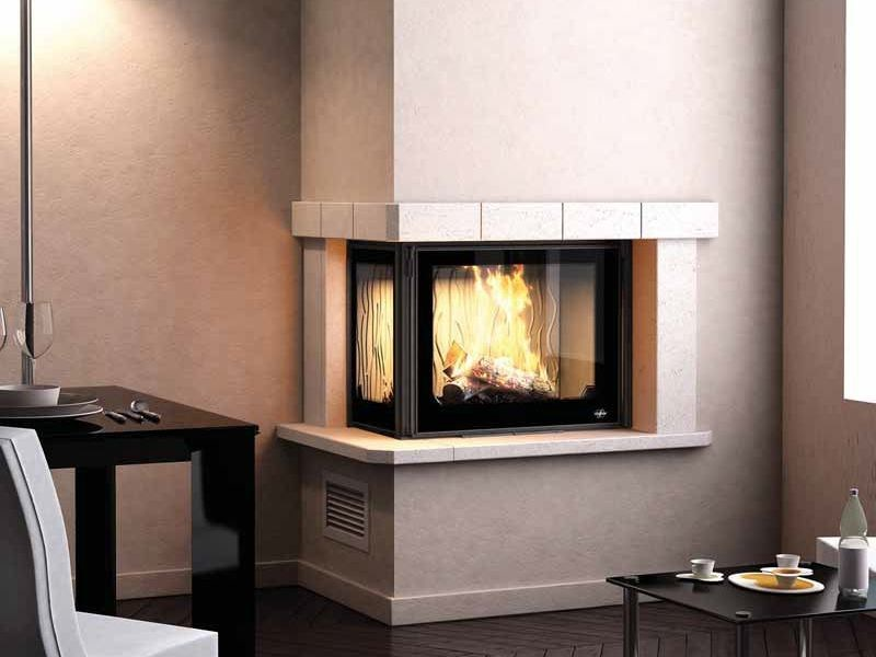 Wood-burning corner fireplace PORTO II by CHEMINEES SEGUIN