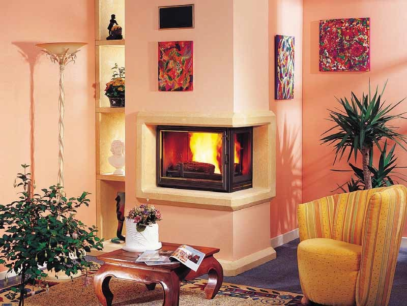 Wood-burning corner fireplace DIAMANTINE   Corner fireplace by CHEMINEES SEGUIN