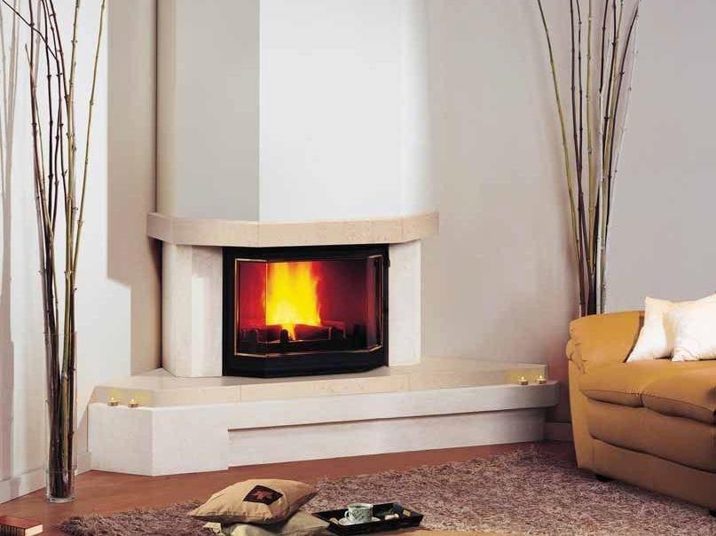 Wood-burning corner fireplace JOSÉPHINE II by CHEMINEES SEGUIN
