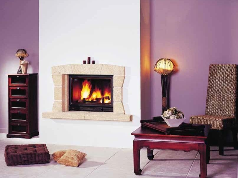 Wood-burning built-in wall-mounted fireplace VALBOIS by CHEMINEES SEGUIN