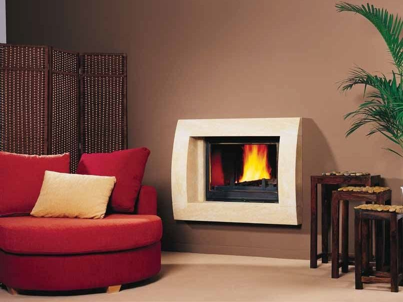 Wood-burning built-in wall-mounted fireplace TENERIFE by CHEMINEES SEGUIN
