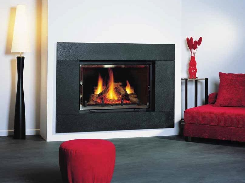 Wood-burning built-in wall-mounted fireplace EDINA by CHEMINEES SEGUIN