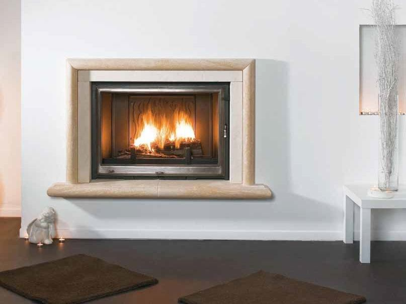 Wood-burning built-in wall-mounted fireplace IRÈS by CHEMINEES SEGUIN
