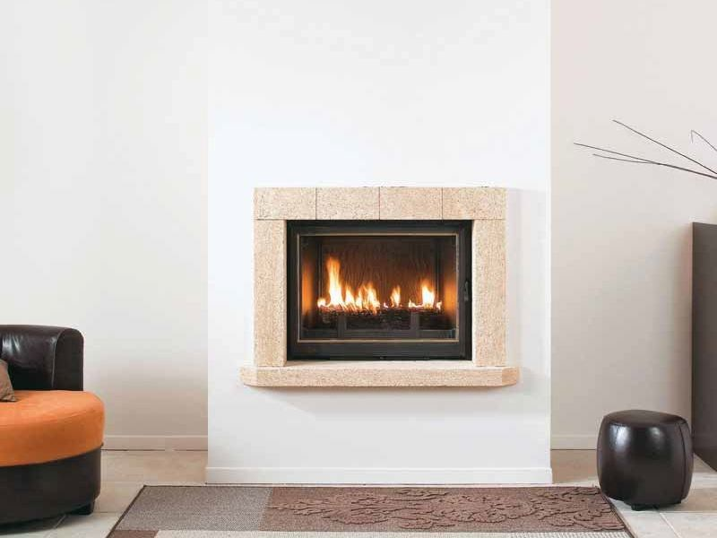 Wood-burning built-in wall-mounted fireplace MALAGA by CHEMINEES SEGUIN
