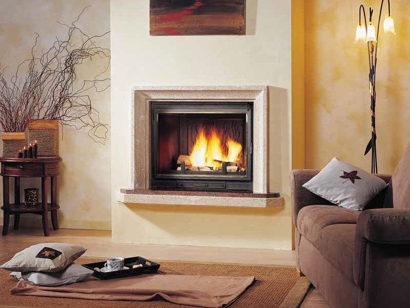Wood-burning built-in wall-mounted fireplace MARBELLA by CHEMINEES SEGUIN