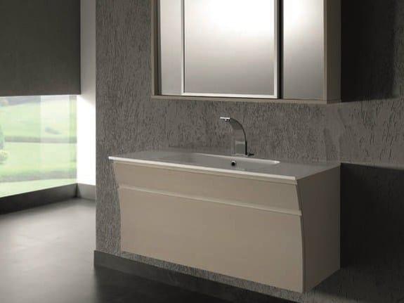 Mobile lavabo sospeso con specchio S121 - Mobiltesino