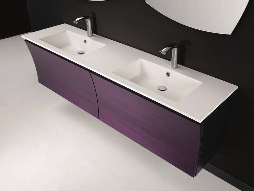 Double vanity unit with drawers S130 double by Mobiltesino