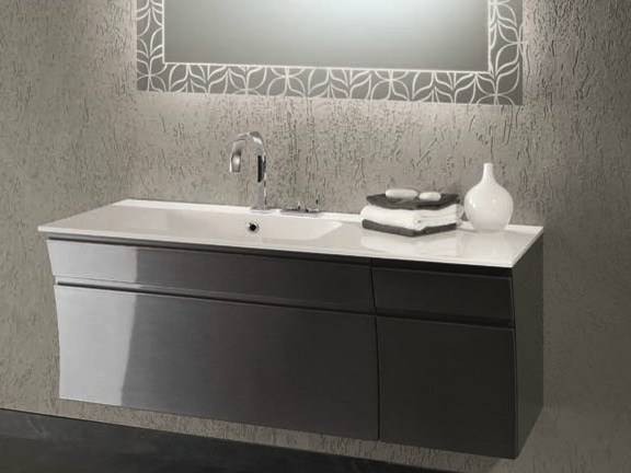 Single vanity unit with drawers S127 by Mobiltesino