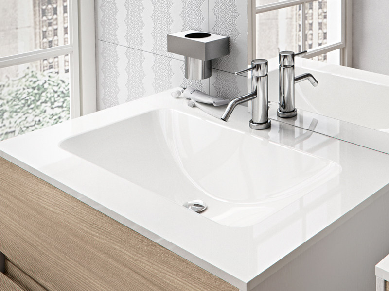 Inset rectangular washbasin PERSEUS by Edoné by Agorà Group
