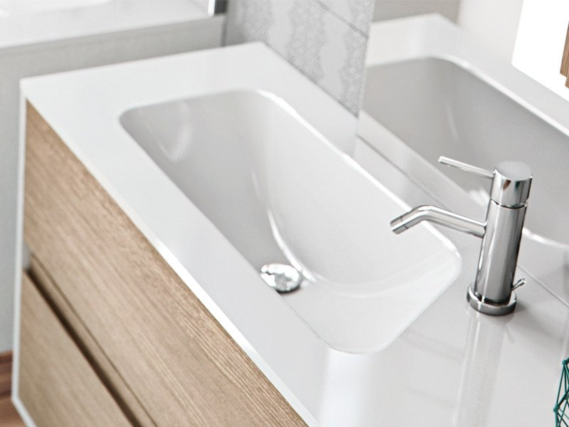 Inset rectangular washbasin PICTOR by Edoné by Agorà Group