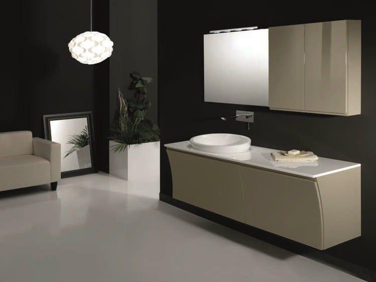 Single wall-mounted vanity unit S129 by Mobiltesino