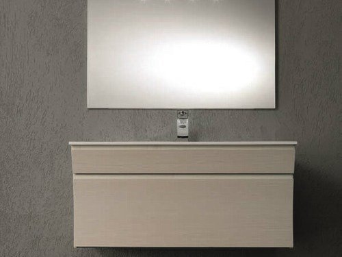 Single vanity unit with drawers S122 by Mobiltesino