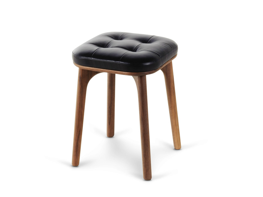 Wooden stool with footrest UTILITY STOOL H460 by STELLAR WORKS