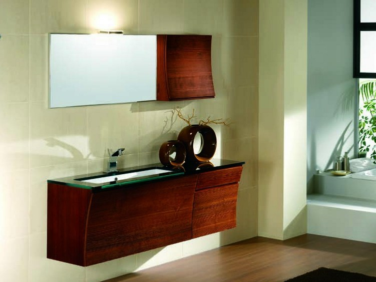 Single elm vanity unit with drawers S104 | Vanity unit by Mobiltesino