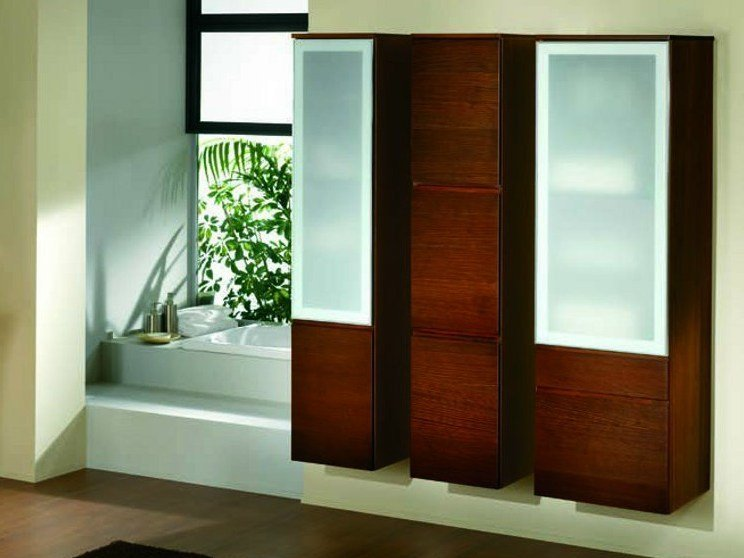 Elm bathroom cabinet with doors S104 | Bathroom cabinet by Mobiltesino