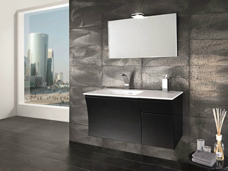 Single wall-mounted vanity unit S118 by Mobiltesino