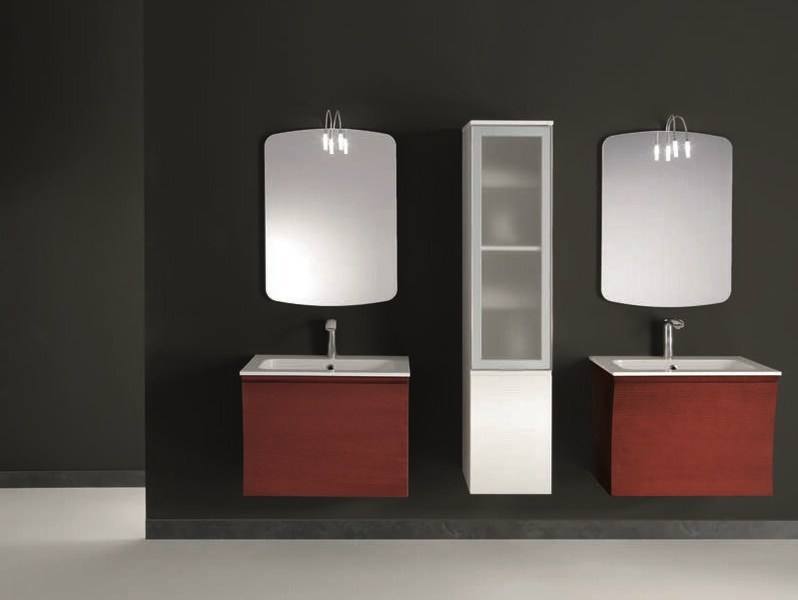 Single wall-mounted vanity unit S131 | Single vanity unit by Mobiltesino