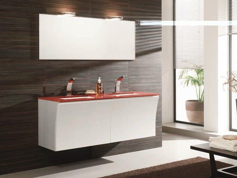Double wall-mounted vanity unit S131   Double vanity unit by Mobiltesino