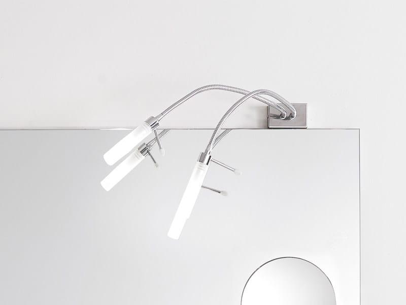 Halogen chrome plated mirror lamp DA VINCI2 by Edoné by Agorà Group