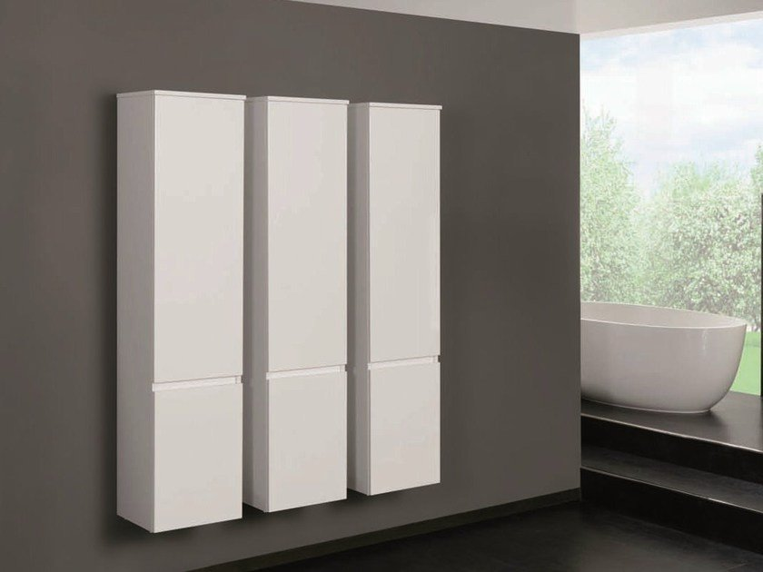 Tall suspended bathroom cabinet QU33 | Bathroom cabinet by Mobiltesino