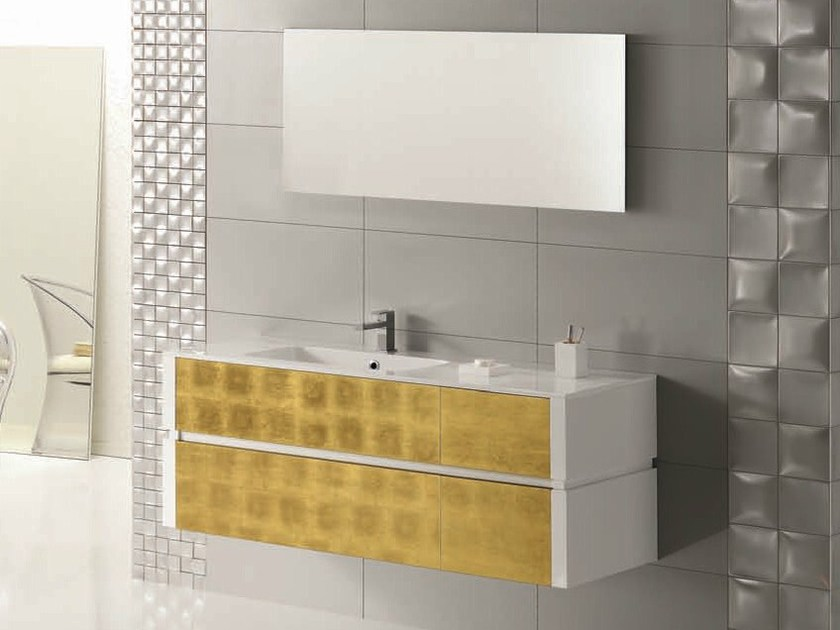 Single vanity unit with drawers QU22 by Mobiltesino