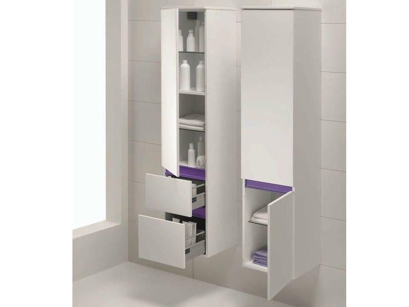 Mobile bagno sospeso frassino bianco cm con specchio