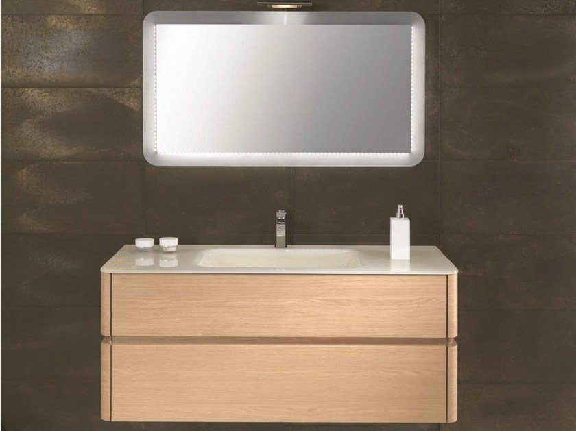 Single vanity unit with drawers QU38 by Mobiltesino