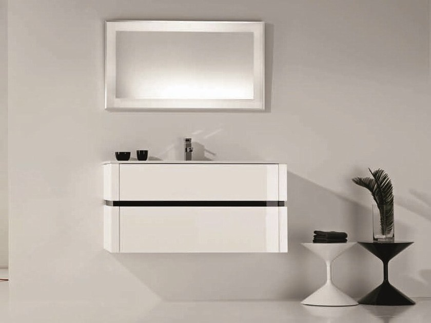 Single vanity unit with drawers QU05 by Mobiltesino