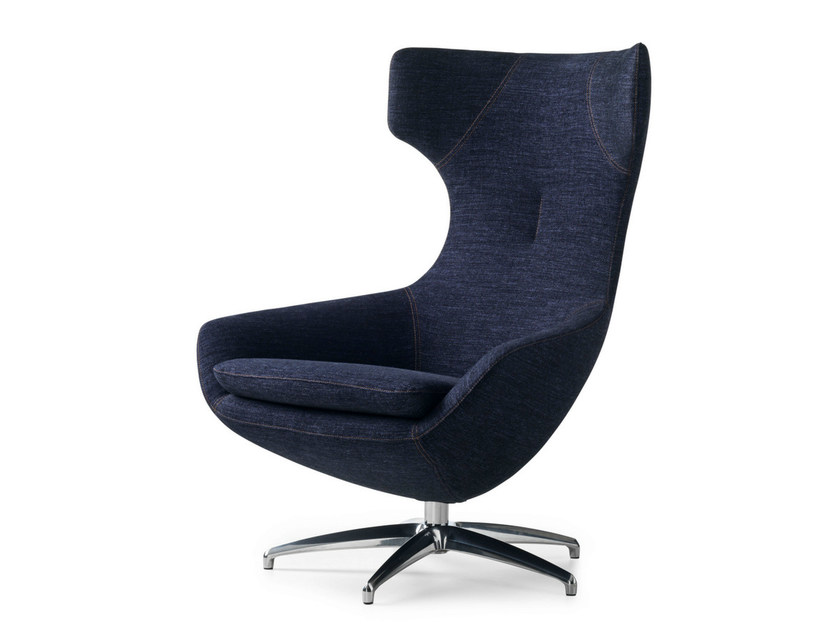 Upholstered fabric armchair CARUZZO | Fabric armchair by LEOLUX