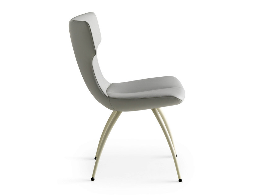 Upholstered leather chair CALLAS | Leather chair by LEOLUX
