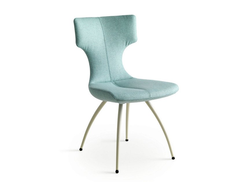 Upholstered fabric chair CALLAS | Fabric chair by LEOLUX