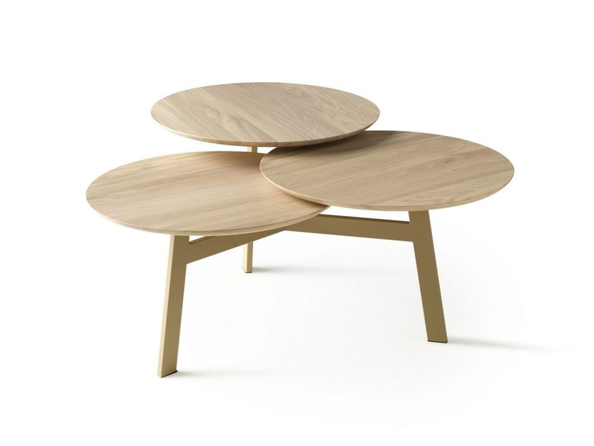 Wooden coffee table for living room NINFEA by LEOLUX