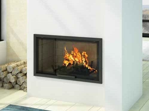 Wood-burning built-in wall-mounted fireplace LAYLA X by CHEMINEES SEGUIN