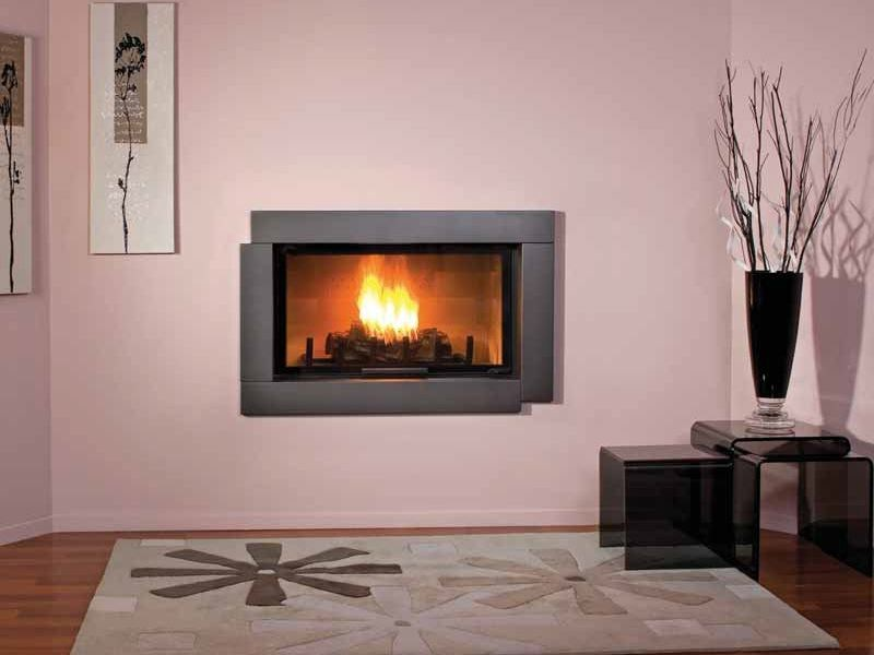 Wood-burning built-in wall-mounted fireplace DORIA by CHEMINEES SEGUIN