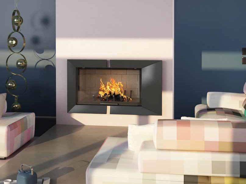 Wood-burning built-in wall-mounted fireplace EMILIA by CHEMINEES SEGUIN