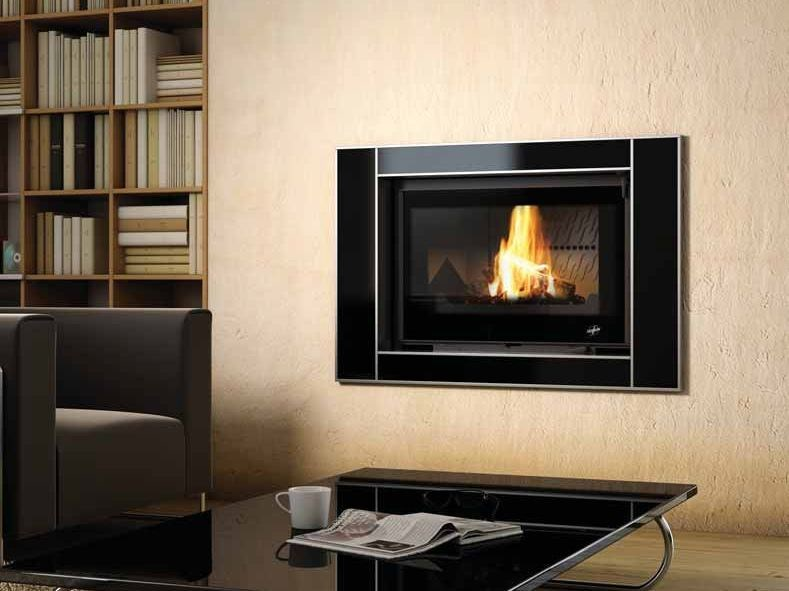 Wood-burning built-in wall-mounted fireplace DÉMÉTER by CHEMINEES SEGUIN