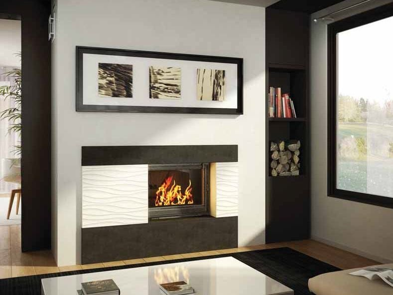 Wood-burning built-in wall-mounted fireplace KALLIOPE by CHEMINEES SEGUIN