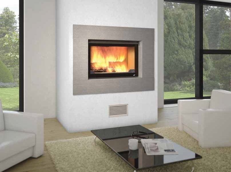 Wood-burning built-in wall-mounted fireplace LAGUNE II by CHEMINEES SEGUIN
