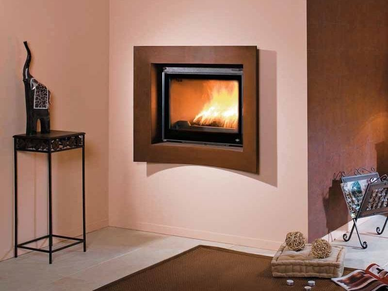 Wood-burning built-in wall-mounted fireplace KENNY by CHEMINEES SEGUIN