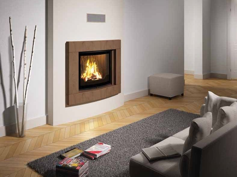 Wood-burning built-in wall-mounted fireplace THANA by CHEMINEES SEGUIN