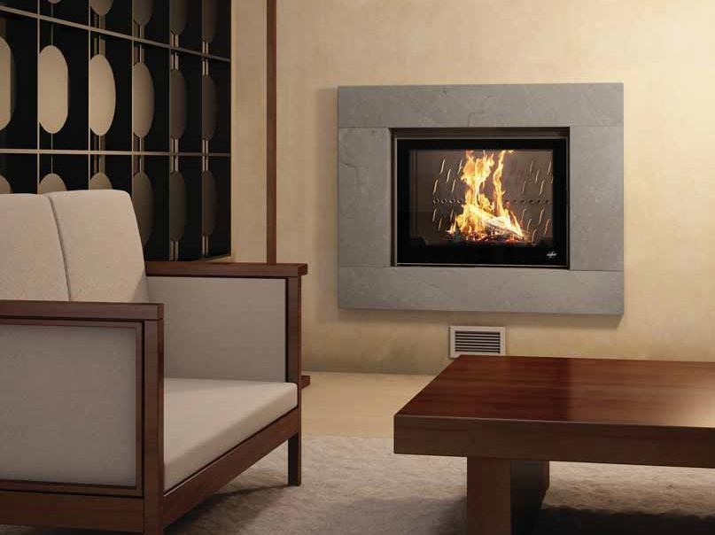 Wood-burning built-in wall-mounted fireplace TAQUARI by CHEMINEES SEGUIN