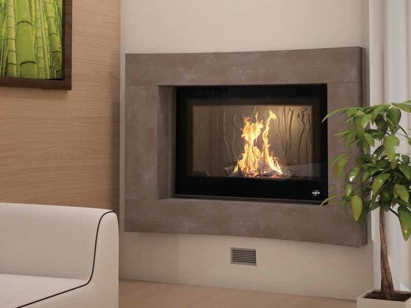 Wood-burning built-in wall-mounted fireplace MATAO by CHEMINEES SEGUIN