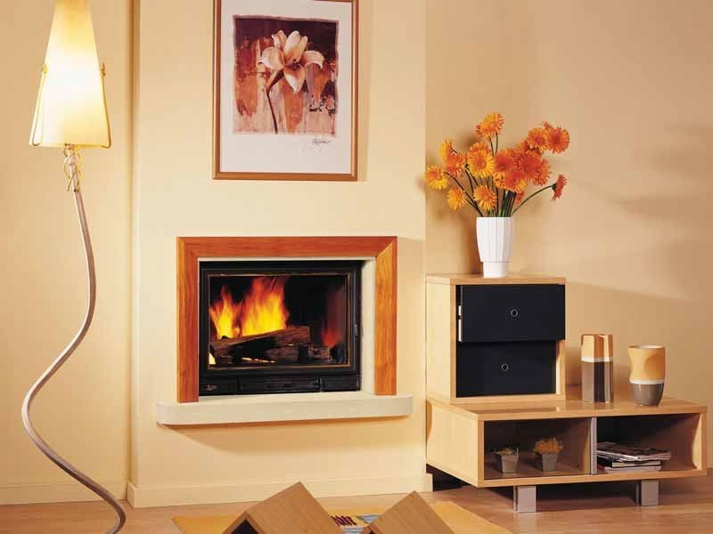Wood-burning built-in wall-mounted fireplace MALTE by CHEMINEES SEGUIN