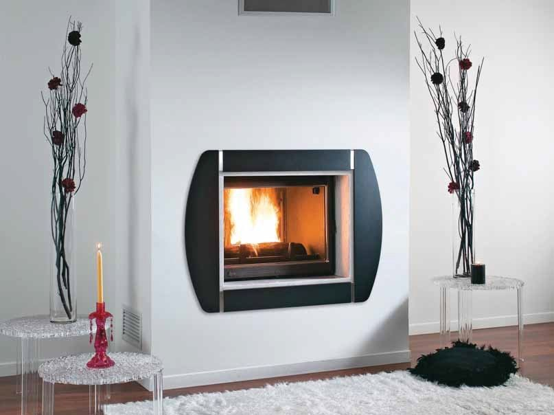 Wood-burning built-in wall-mounted fireplace SIERRA by CHEMINEES SEGUIN