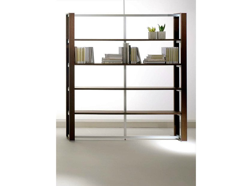 Tall wood veneer office shelving ELECTA | Office shelving by IFT