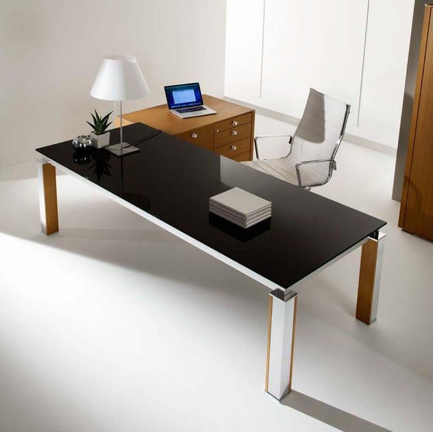 krystal executive office desk. Rectangular Crystal Executive Desk ELECTA Office By IFT Krystal