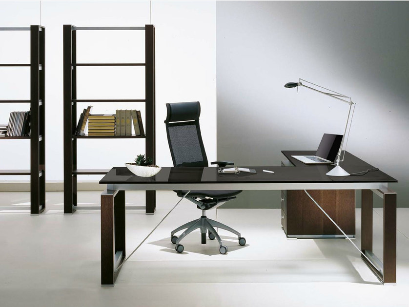 ELECTA Lshaped office desk By IFT design Nikolas Chachamis