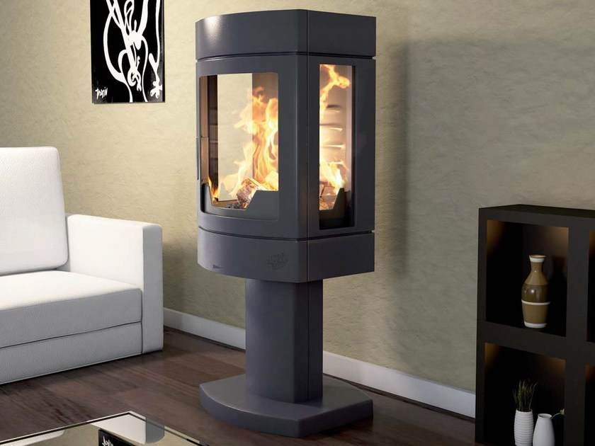 Wood-burning Central stove AMBRE by CHEMINEES SEGUIN